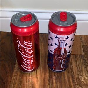 2 Coca Cola Cool Gear Cups American Flag Colors